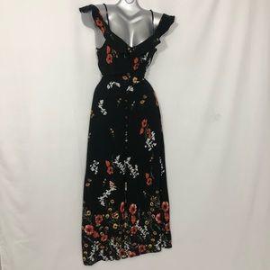 XHILARATION cold shoulder empire waist maxi dress